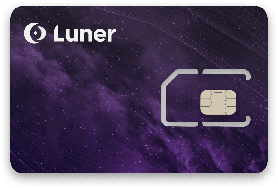 A complete tri-cut IoT SIM card for IoT use, as sold by Luner